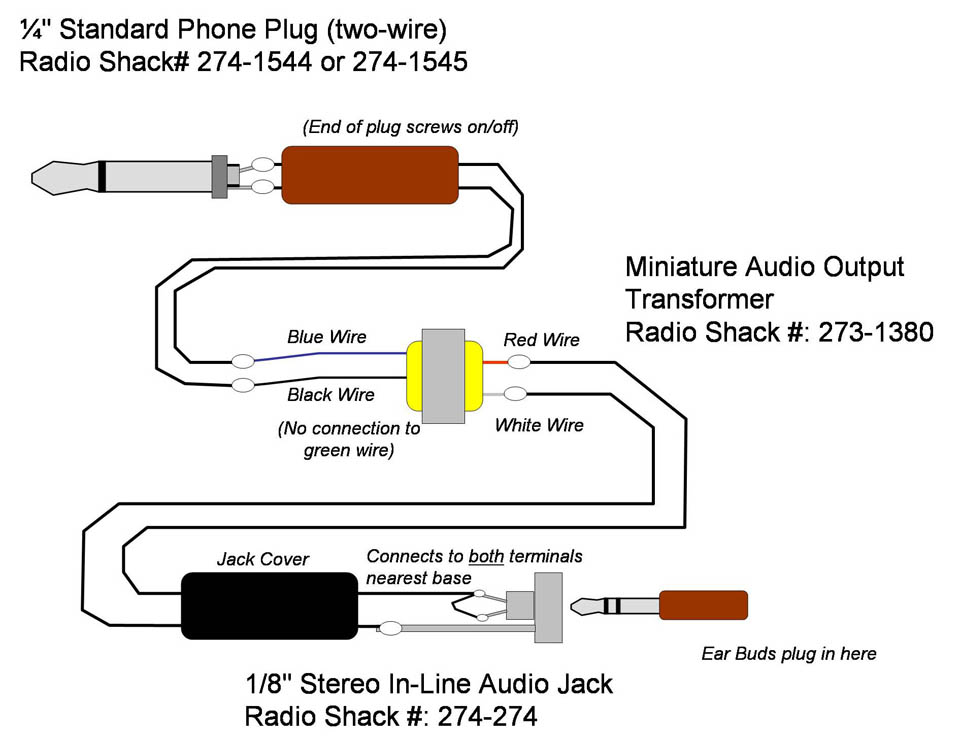 stereo headphone wire diagram radio shack headphone wire diagram building a lightweight, slimline headset
